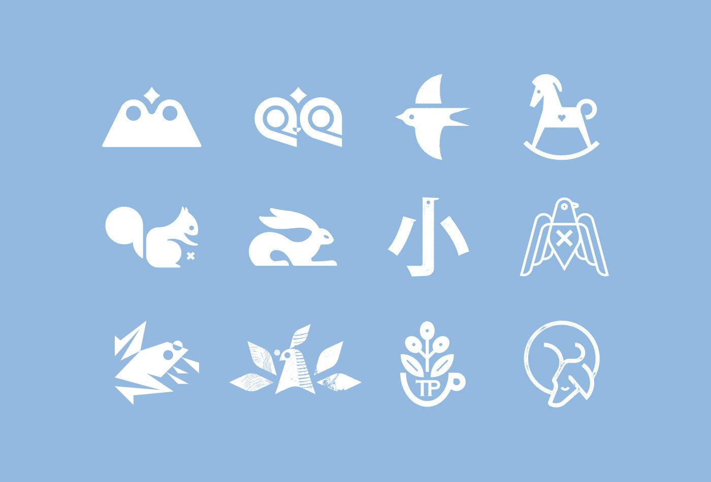 C-logo-symbol-logos-pictogram-marks-trademarks-trademark-glyph-icon-icons-logotype-collection-vacaliebres-birds