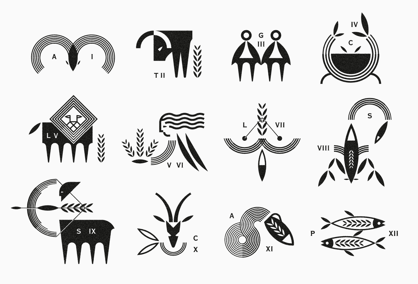 logo-logos-marks-vacaliebres-zodiac-greek-symbols.logomarks