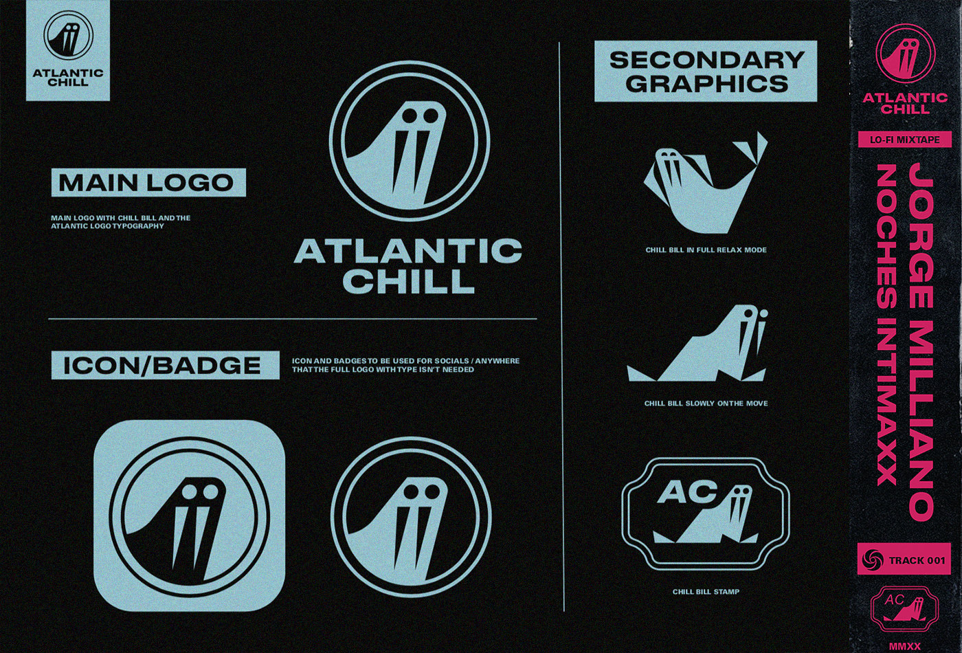 visual-identityspotify-atalntic-chill-atlanticchill-atlantic-records-atlanticrecords-walrus-logo-music-youtube-lofi-lo-fi-japanese-obi-branding-vacaliebres